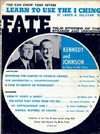 9780276568060: Fate Magazine, June 1968. John F. Kennedy Cover (Volume 21, No. 6)