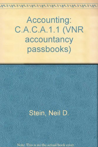 9780278000094: Accounting: Caca Paper 1.1 (Vnr Accountancy Passbooks)