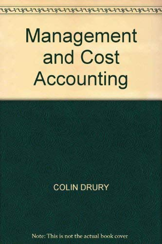 9780278000629: Management and Cost Accounting