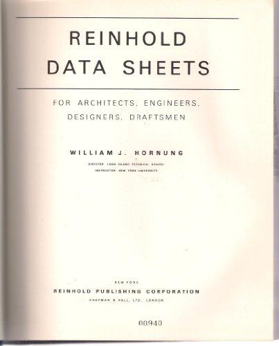 Reinhold Data Sheets: Hornung, W J