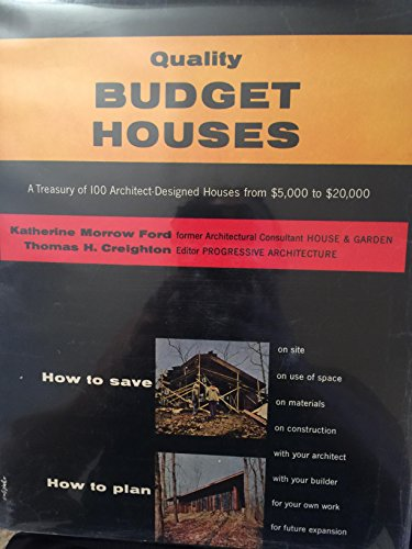 Quality Budget Houses: a Treasury of 100 Architect-Designed Houses From.