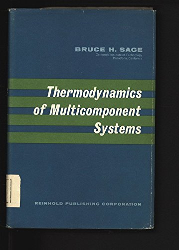 9780278917668: Thermodynamics of Multicomponent Systems