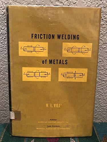 9780278920095: Friction Welding of Metals