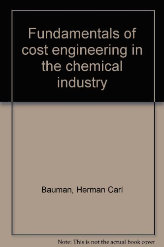 9780278920880: Fundamentals of Cost Engineering in Chemical Industry