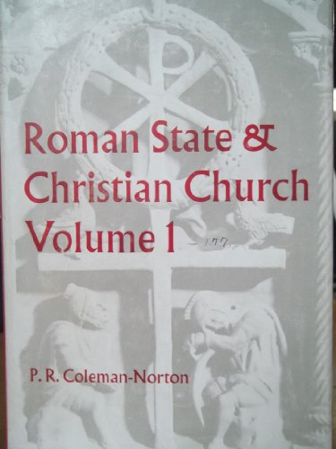 9780281023226: Roman State and Christian Church