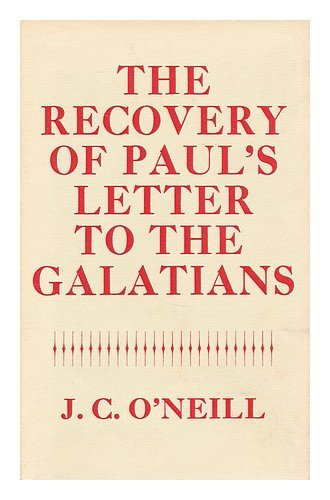 9780281026784: The Recovery of Paul's Letter to the Galatians