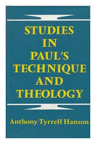 9780281027521: Studies in Paul's Technique and Theology