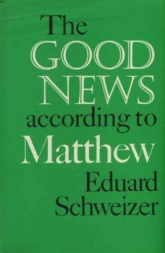 9780281028955: Good News According to Matthew
