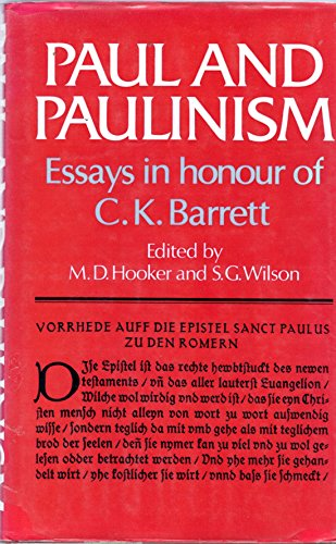 9780281038350: Paul and Paulinism Essays in Honour of C.K. Barrett