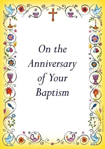 9780281058617: Anniversary of Baptism Card