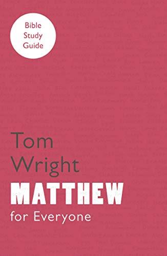 9780281061792: For Everyone Bible Study Guide: Matthew
