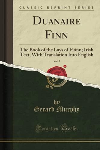 Duanaire Finn, Vol. 2: The Book of: Gerard Murphy