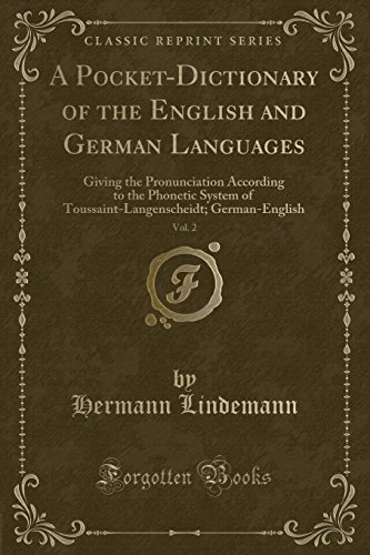 A Pocket-Dictionary of the English and German: Hermann Lindemann