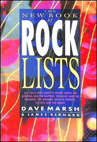 9780283061813 New Book Of Rock Lists Abebooks Dave Marsh James