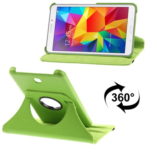 9780283917868: 360Degree Rotatable Litchi Texture Leather Mobile Case Cover + Free Stylus with 2-angle Viewing Holder for Samsung Galaxy Tab 47.0/SM-T230(Green)