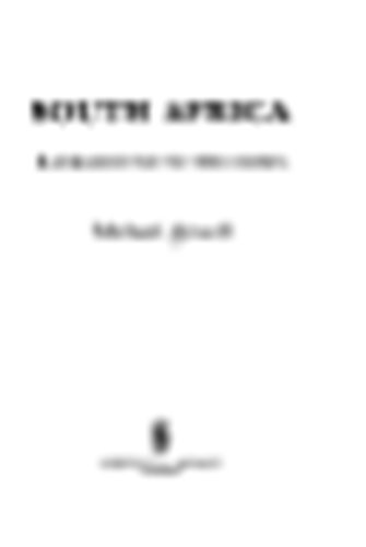 South Africa: Background to the Crisis: Attwell, Michael