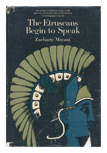 9780285500396: The Etruscans Begin to Speak