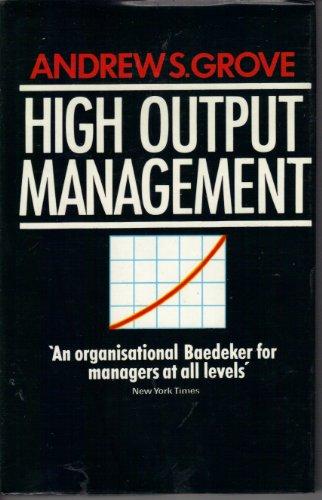 9780285626591: High Output Management