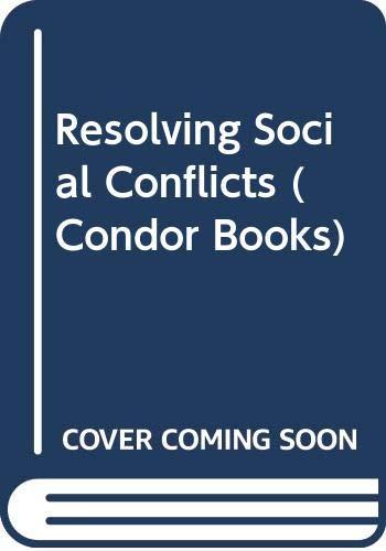Resolving Social Conflicts (Condor Books): Lewin, Kurt