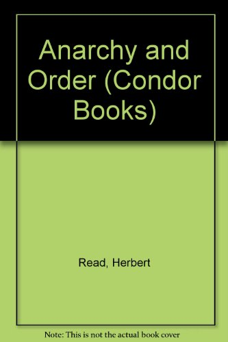 9780285647688: Anarchy and Order (Condor Books)