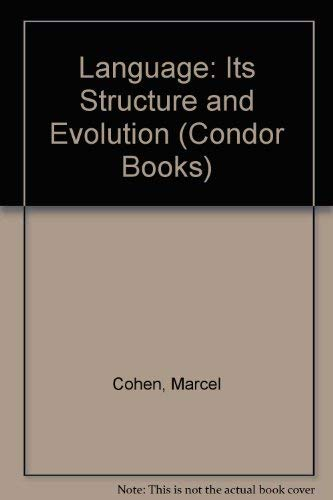 9780285647787: Language: Its Structure and Evolution (Condor Books)