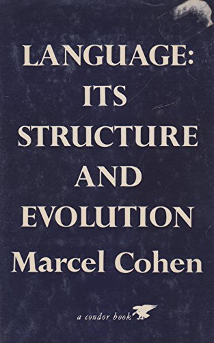 9780285647794: Language: Its Structure and Evolution (Condor Books)