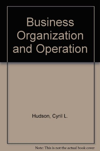 9780286627207: Business Organization and Operation