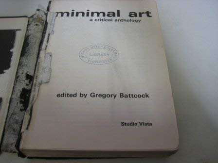 9780289795934: Minimal Art: Critical Anthology