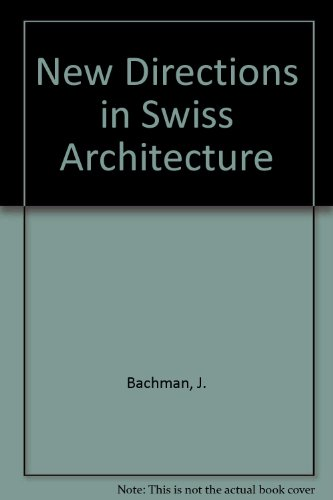 9780289796481: New Directions in Swiss Architecture