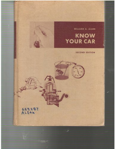 9780291394330: Know Your Car