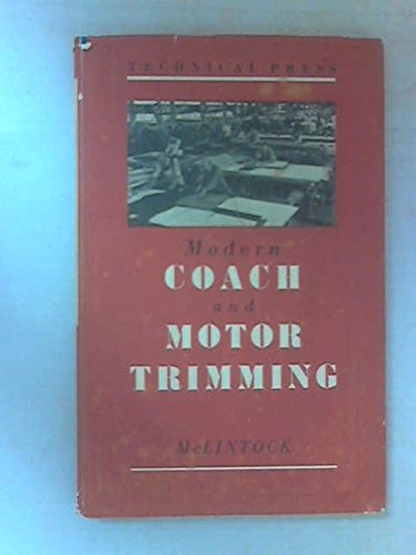 9780291394583: Modern Coach and Motor Trimming