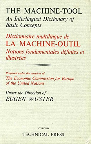 9780291396150: Machine Tool: Master v. 1: An Interlingual Dictionary of Basic Concepts (English and French Edition)