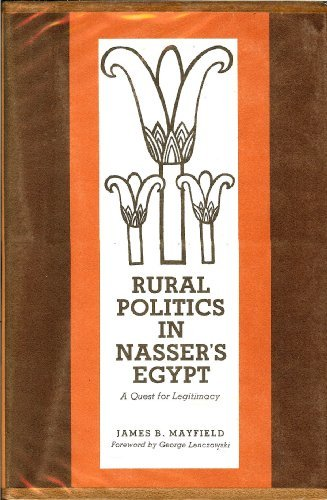Rural politics in Nasser's Egypt;: A quest: Mayfield, James B