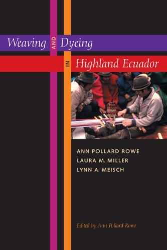 Weaving and Dyeing in Highland Ecuador: Ann Pollard Rowe