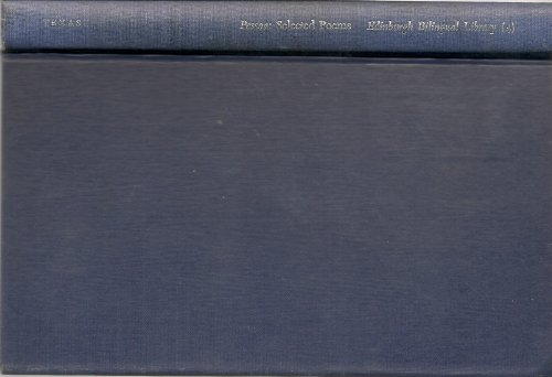 9780292724020: Selected poems (Edinburgh bilingual library) [Hardcover] by Pessoa, Fernando
