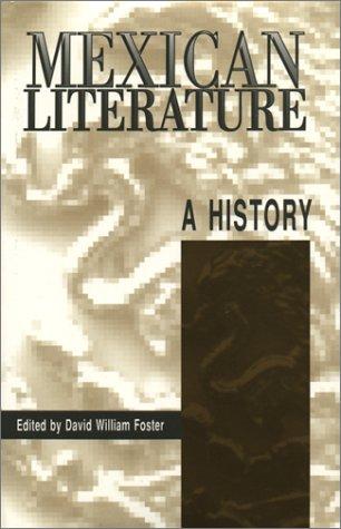 Mexican Literature: A History (Texas Pan American Series)