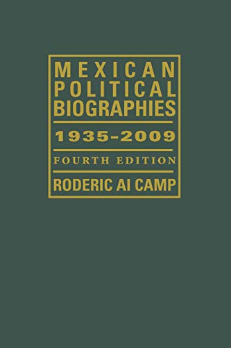 9780292726345: Mexican Political Biographies, 1935-2009 (Llilas Special Publications Series)