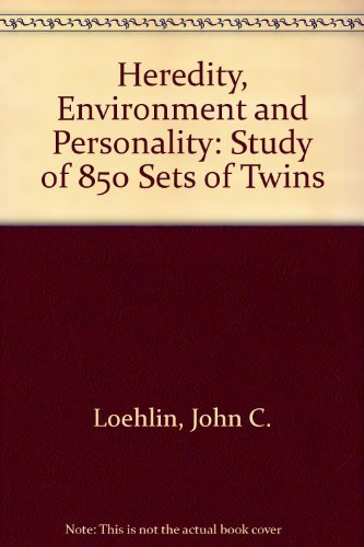 9780292730038: Heredity, Environment and Personality: A Study of 850 Sets of Twins