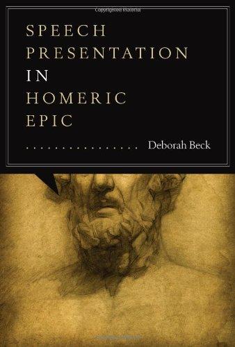 9780292738805: Speech Presentation in Homeric Epic