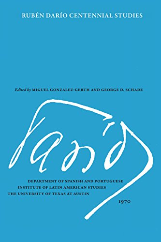 Ruben Dario Centennial Studies