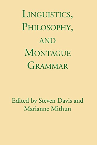 9780292740723: Linguistics, Philosophy, and Montague Grammar
