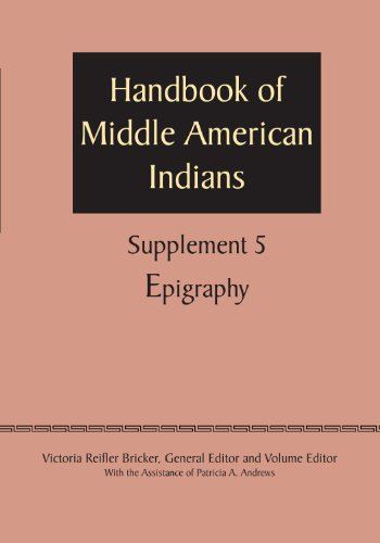 9780292744455: Supplement to the Handbook of Middle American Indians, Volume 5: Epigraphy