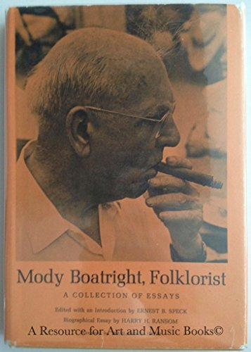 9780292750074: Mody Boatright Folk Artist: A Collection of Essays