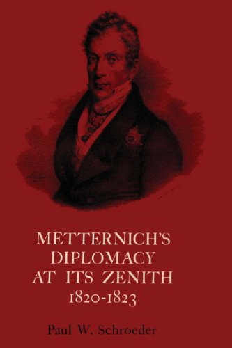 Metternich's Diplomacy at its Zenith, 1820-1823: Paul W. Schroeder