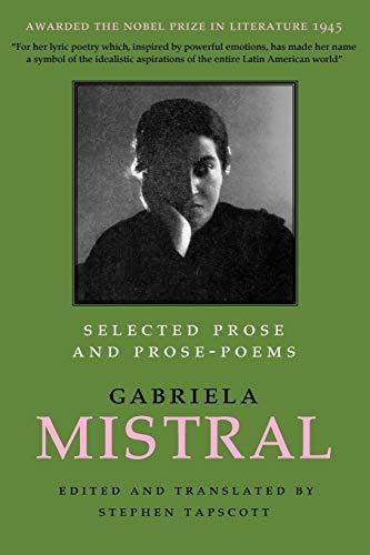 Selected Prose and Prose Poems (Joe R.: Gabriela Mistral