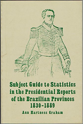 Subject Guide to Statistics in the Presidential Reports of the Brazilian Provinces, 1830-1889