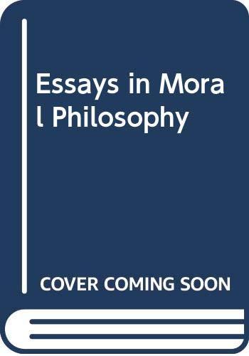 9780295740492: Essays in Moral Philosophy