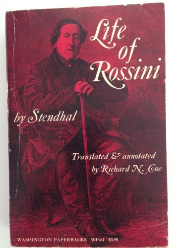 9780295951898: Life of Rossini, (Washington paperbacks)