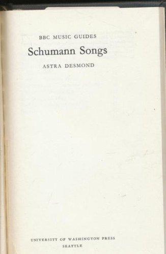 9780295952000: Schumann songs (BBC Music guides, 22)