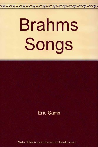 9780295952505: Brahms songs (BBC music guides)